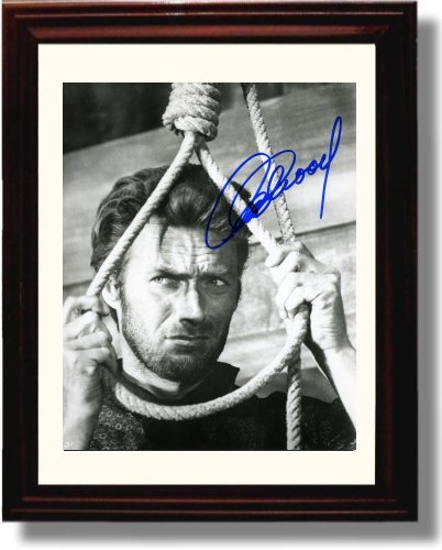 Framed Clint Eastwood Autograph Replica Print