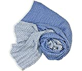 Stanley Lewis Men's Orbit Silk Scarf Cobalt Blue