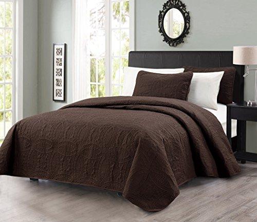 Chezmoi Collection Austin 3-piece Oversized Bedspread Coverlet Set (King, ()