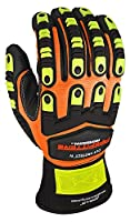 Apollo Performance Work Gloves, Pipefitters Professional Cut Protect IV, Impact Protection, ANSI Cut Level 4, NeverSlip Technology Grip, Abrasion Protection, Touch Screen Capabilities with Lightning Touch Technology, 1 Pair, Hi Vis Orange
