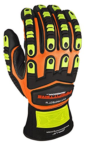 Apollo Performance Work Gloves 3011, Pipefitters Professional Cut Protect IV, Impact Protection, ANSI Cut Level 4, NeverSlip Technology Grip, Abrasion Protection, Touch Screen Capabilities with Lightning Touch Technology, 1 Pair, Small, Hi Vis Orange by Apollo Performance Gloves