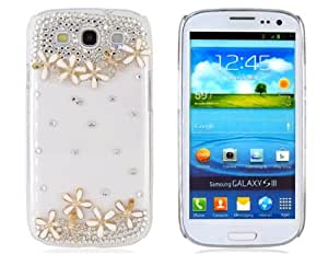 PC Creative Shape Design with Rhinestones Decoration Protective Case for Samsung Galaxy S3/ I9300