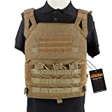 Excellent Elite Spanker Tactical Airsoft Outdoor Molle Breathable JPG Vest Game Protective Vest Modular Chest Set Vest for fun(Coyote Brown)