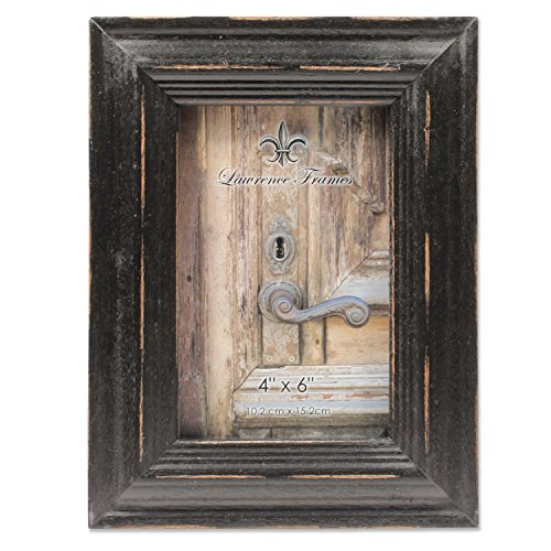 - 4x6 Weathered Black Wood Picture Frame