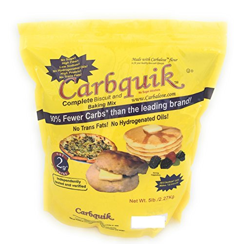 Carbquik Baking Mix 5 Pounds Convenient Resealable Pouch Keto Diet Friendly (Best Low Carb Baking Mix)
