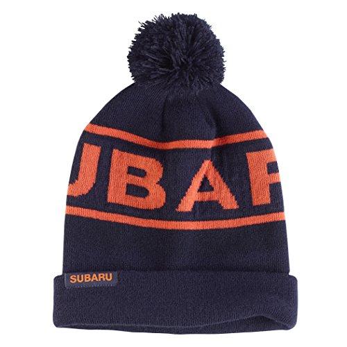 genuine-subaru-cuffed-knit-beanie-w-pom-hat-impreza-sti-wrx-racing-ski-snow-new