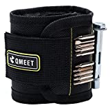 QMEET Super Magnetic Wrist Strap is Equipped with 10 Powerful Magnets for Fixing Screws Nails Bolts Bits Fasteners Scissors and Other Gadgets