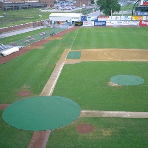Baseball Field Tarps - BSN Sports Ultra Lite Field Cover Circular Home Plate
