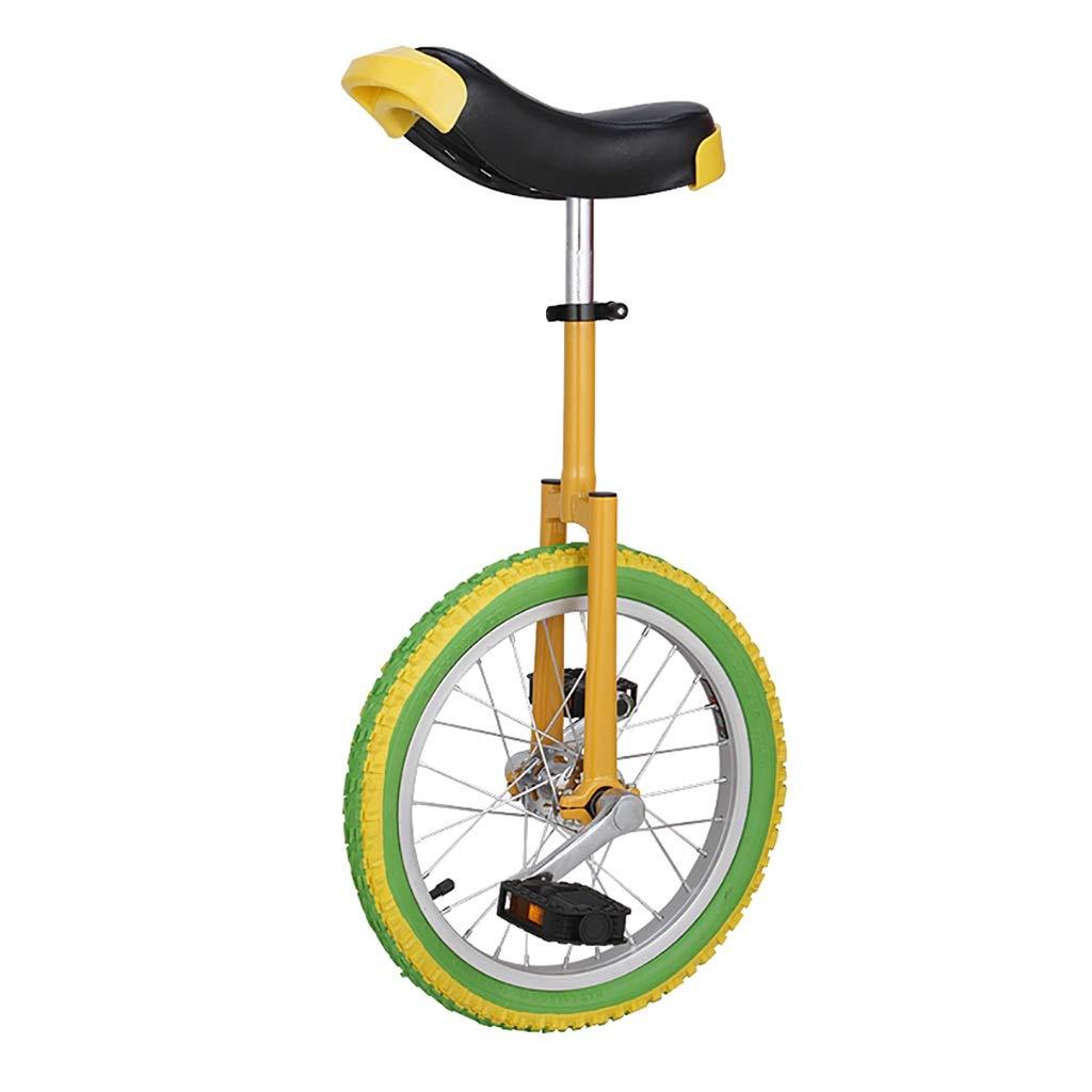 フリースタイル一輪車シングルラウンド子供の大人の調節可能な身長のバランスサイクリング運動16/18/20インチ (サイズ さいず : 20 inch) 20 inch  B07PQSJMY9