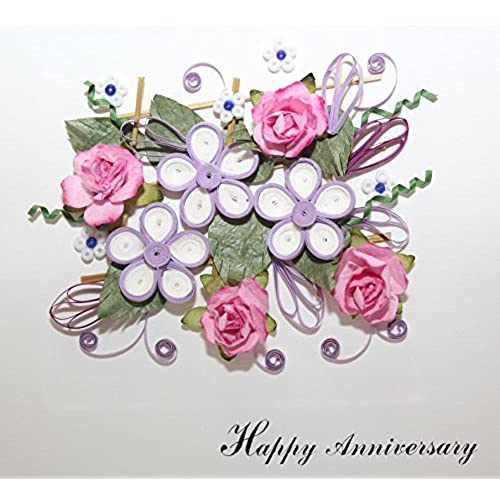 Handmade Quilling Card: Happy Anniversary card Sales