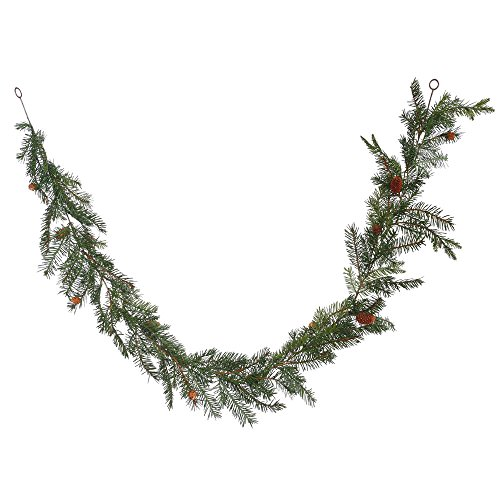 Vickerman Unlit Douglas Fir Artificial Garland Artificial Pine Cones, 6' x 12