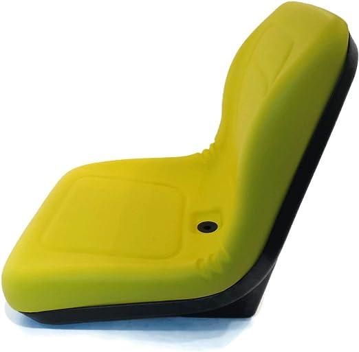 Black HIGH BACK SEAT w// Pivot Rod Bracket for John Deere 240 245 260 265 285 320