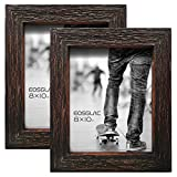 EosGlac Set of 2 Picture Frames 8×10 – Reclaimed Shadow Look with Glass Fronts – Wall and Tabletop Display For Sale