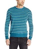 Williams 100% Cashmere Men's Cashmere Striped Crewneck Sweater