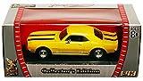 1967 Chevy Camaro Z28, Yellow w/ Stripes - Yatming 94216 - 1/43 Scale Diecast Model Toy Car