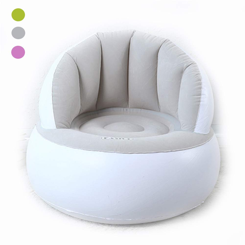 LPER Empire Inflatable Chair,Living Room Chairs,Blow Up Couch & Inflatable Sofa with Headrest & Securing Stake- for Camping Beach Or Pool