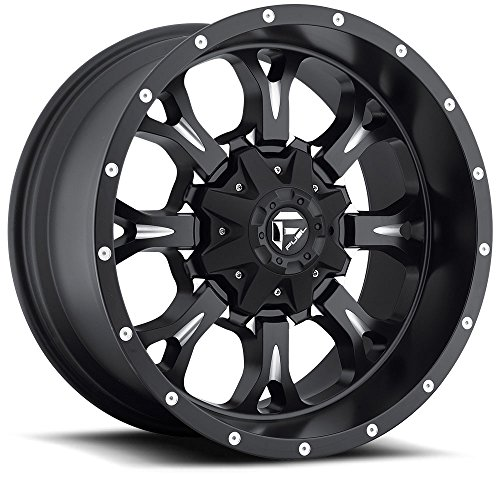 - 18x9 Fuel Offroad Wheels Krank D517 6x135 / 6x139.7-13 Offset 106.1 Centerbore - Matte Black/Milled | P# D51718909844 | WHEELS ONLY | NEW | AUTHORIZED DEALER