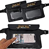 Gold Coast Surfboards Waterproof Phone Pouch - || Waterproof Fanny Pack || - Touch Screen Capable Clear Window Fanny Pack - ISUP/Kayak/Camping/Travel Water Proof Phone Pouch [2 PACK]