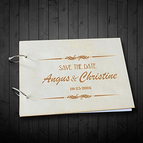 Save the Date Wedding Scrapnook Photo Albumes Personalized Name and Date Wedding Guest Book 8 x 12 inches Wedding Gifts for Couples