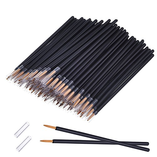 eBoot 100 Pack Disposable Eyeliner Brush Applicator Cosmetic Eye Wands Makeup Tool