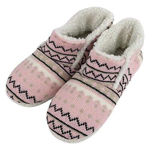 Boots Slipper Home Womens Fleece House Indoor Pink Warm Plush Soft Slipper Striped Shoes rrfgBH4