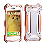 iphone 5 bumper aluminum - iPhone 5s Case ,iPhone 5 Case,iPhone SE Case,Personality Super Protective Case Cover,Reinforced Hard Bumper Armour Defender Slim Frame Shell for Apple iPhone 5/5S/SE Orange