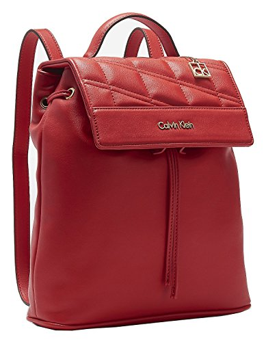 Calvin Klein Womens Kora Studio Slim Backpack Bag Berry