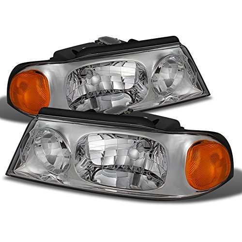 - ACANII - For 1998-2002 Lincoln Navigator Replacement Headlights Headlamps 98-02 Driver + Passenger Side