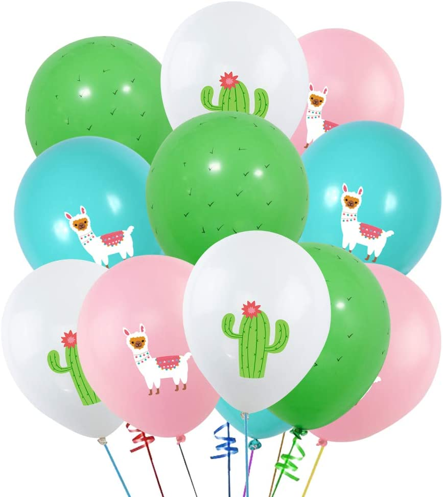 Set of 12+ Llama Party Plates Decorations with Llama and Cactus