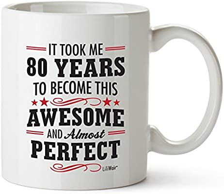 80th Birthday Gifts For Women Eighty Years Old Men Gift Mugs Happy Funny 80 Mens Womens Womans Wifes Female Man Best Friend 1939 Mug Male Unique Ideas 39 Woman Wife Gag Dad Girls Guys Good Husband LiliWair