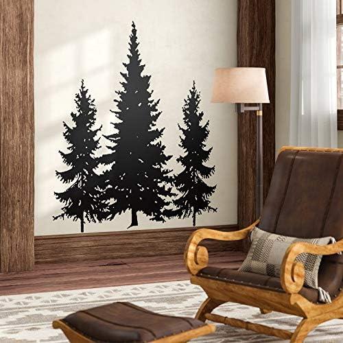 N.SunForest Pine Evergreen Trees Vinyl Wall Decal Home Decor