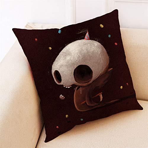 Aqua Halloween Lyrics (Unionm 16# Pillow Covers Decorative Throw Pillow Case Halloween Theme Printed 45cm x 45cm 18 x 18 inches Cushion Cover for Home Sofa Car 1)
