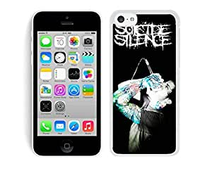 MMZ DIY PHONE CASESuicide Silence 05 White Hard Plastic iphone 6 plus 5.5 inch Phone Cover Case