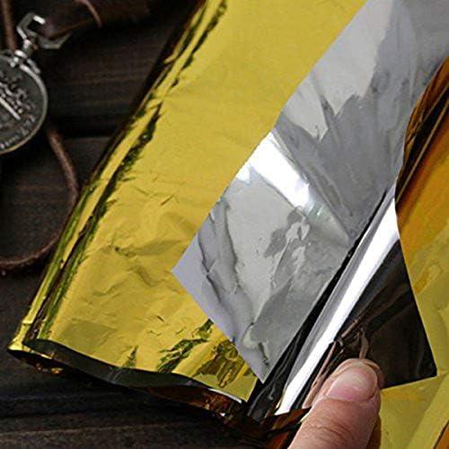 Gaoominy La Couverture de Survie durgence 5 Pieces adaptee a la Randonnee Trousse de Premiers Soins Dore Conserve la Chaleur du Corps la Couverture Chaude Impermeable Mylar