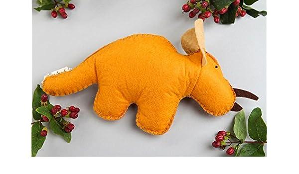 Muneco de fieltro hecho a mano juguete de peluche regalo original Dinosaurio: Amazon.es: Juguetes y juegos