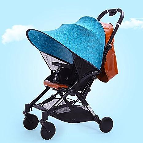 Parasol Carrito Bebe Universal Parasol Bebe Silla Paseo de Elastano (Azul)