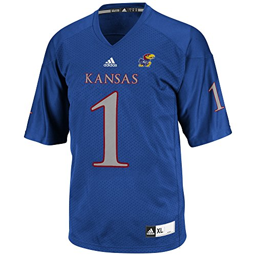 NCAA Kansas Jayhawks Men's 3-Stripe Football Jersey, X-Large, -