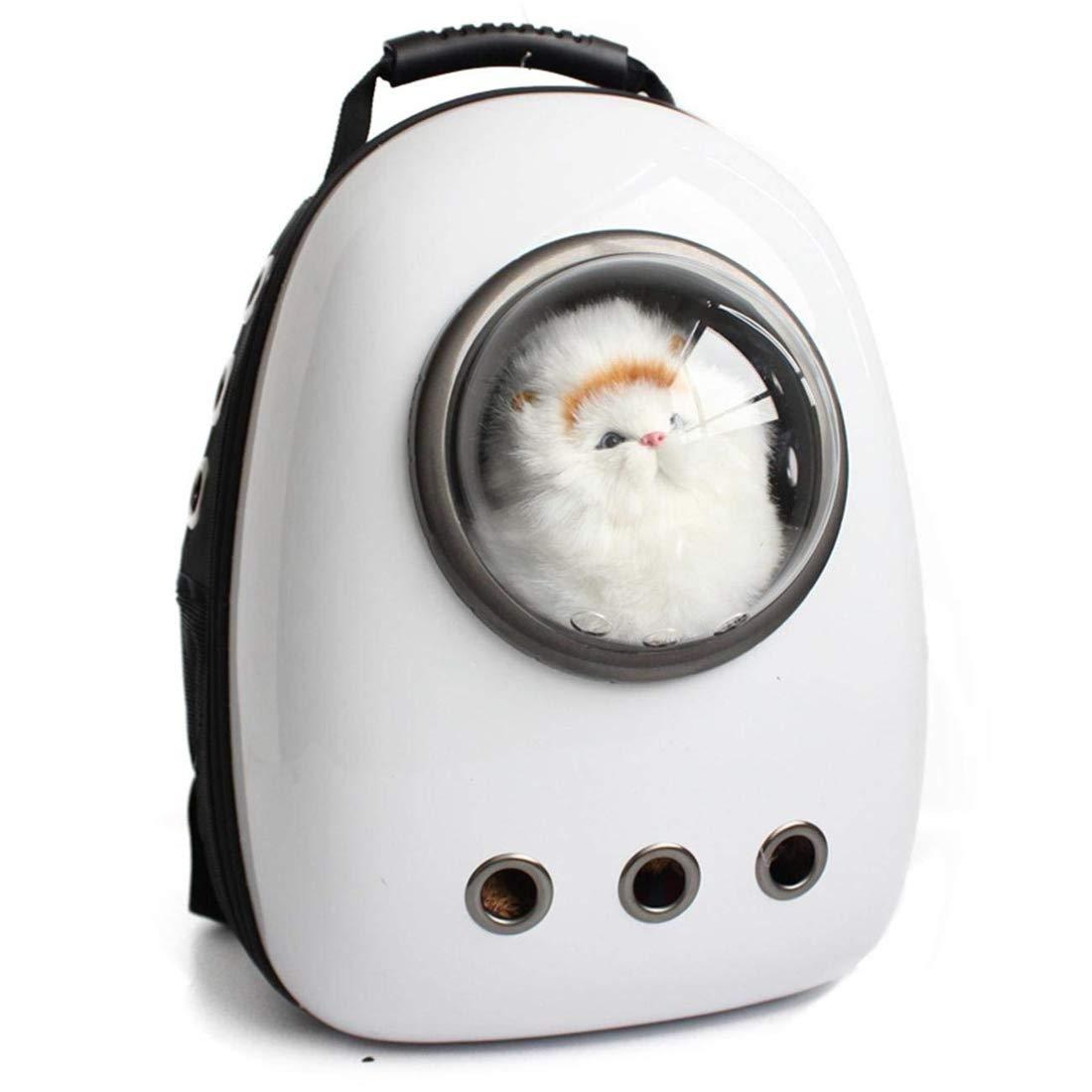 Astronaut Capsule Pet Backpack Airline Approved Transparent Transpirable Dog Cat Carrier Portable Sac à Main Pour Voyage en plein air Randonnée pédestre , White Pet Dream Life