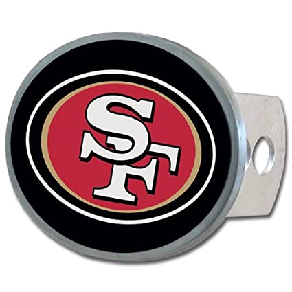4722c363 Siskiyou NFL San Francisco 49ers Oval Hitch Cover, Class II & III
