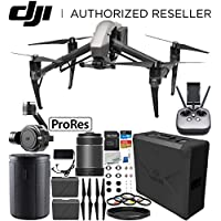 DJI Inspire 2 Quadcopter with Apple ProRes License with 50mm f/2.8 ASPH LS Lens & Zenmuse X7 Camera and 3-Axis Gimbal Bundle