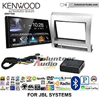 Volunteer Audio Kenwood DMX7704S Double Din Radio Install Kit with Apple CarPlay Android Auto Bluetooth Fits 2005-2011 Toyota Tacoma with Amplified System (Light Silver)