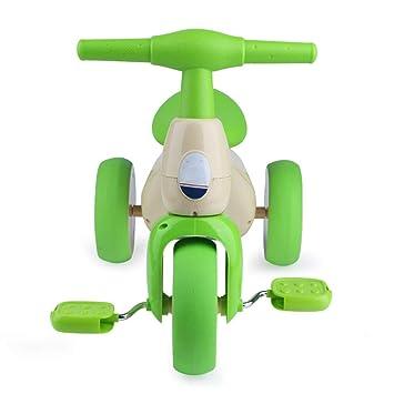 Mai Dou Coche De Juguete De Tres Ruedas para Niños Bicicleta Antivuelco Bicicleta Niño 1-3 Años De Edad, Niño Y Niña Regalo De Cumpleaños,Green: Amazon.es: ...
