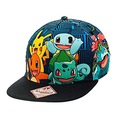 Official Pokemon Charmander Pikachu and Friends Snapback Cap Hat - Teens Adults from Pokemon