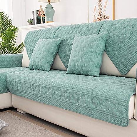 Funda protectora para sofá algodón de felpa de tela escocesa ...