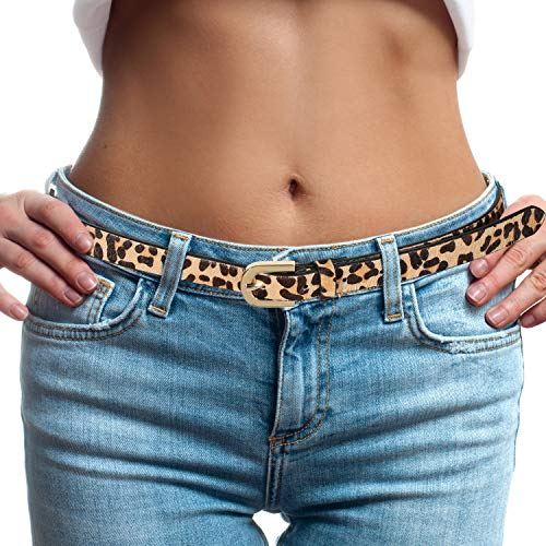 Leopard Print Belt for Women fashion leather Waist Belt Ladies Belt Casual Waistband (S(29''-35''))