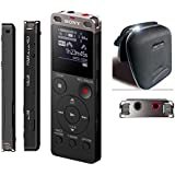 SONY Pro Digital Dictation Machine ICD-UX560 with up to 159 Hours of Recording Direct USB and Stereo Mic- very compact. includes Ziptune sound speaker -Black