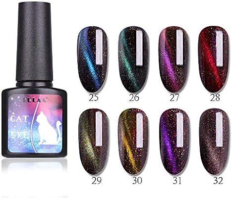 Esmalte de uñas Gel para los ojos de gato y esmalte de uñas negro con imán, Vernis Semi Permanente Con Ojo De Gato Esmalte de uñas Gel UV LED Kit de manicura
