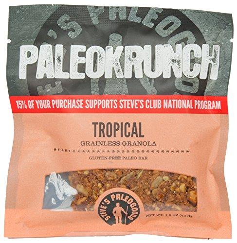Paleokrunch Paleo Bar Grainless Granola, Tropical Bar, 1.5 oz (Pack of 3)