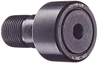 """RBC Cam Follower CH48LW 1.500"""" Outside Diameter, Heavy Duty Stud Type, Hex Head, Sealed, Crowned Outer Ring Cam Follower"""