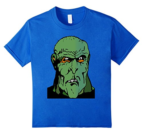 Giant Monster Costumes (Kids Giant Green Ogre Monster Tee Shirt costume Halloween 6 Royal Blue)